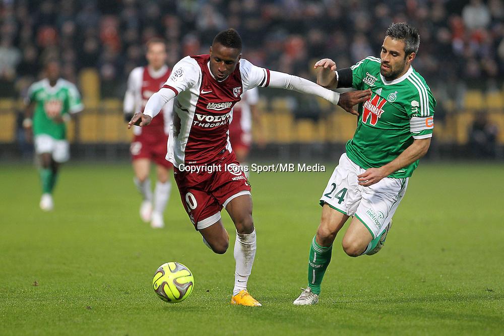 Bouna SARR / Loic PERRIN - 14.03.2015 - Metz / Saint Etienne - 29e journee Ligue 1<br /> Photo : Fred Marvaux / Icon Sport