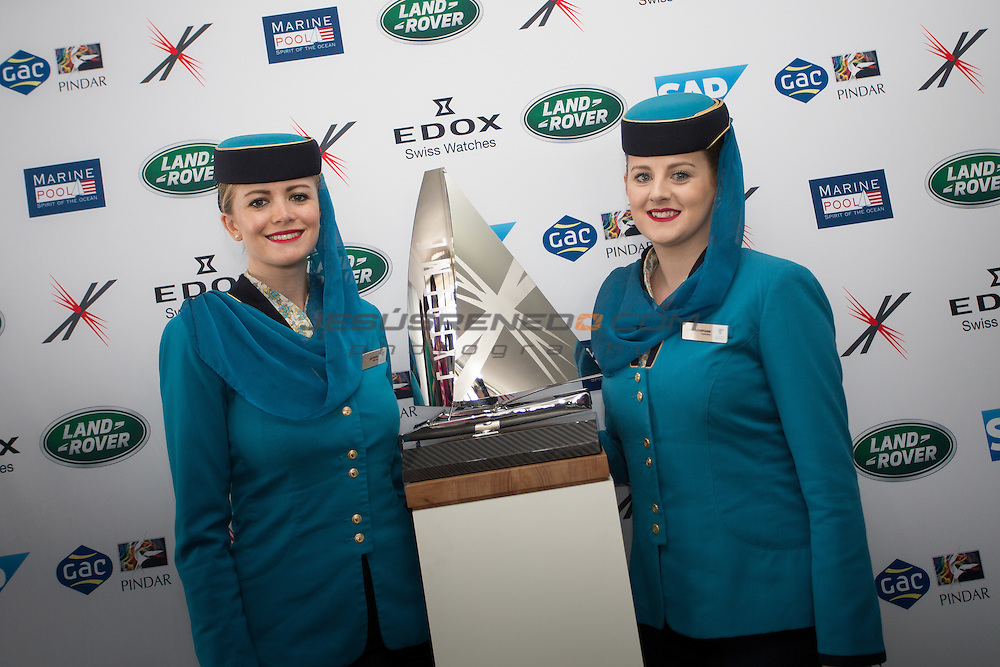 2015 Extreme Sailing Series - Act 5 - Hamburg<br /> Oman Air Hostesses at ESS Hamburg<br /> Credit Jesus Renedo