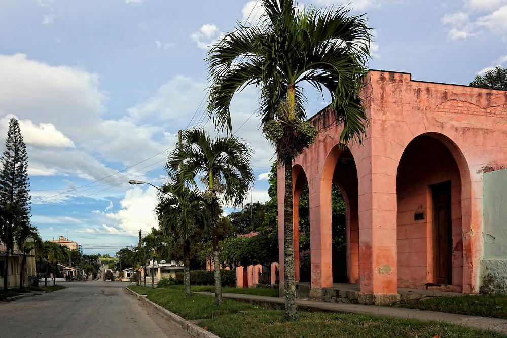 Street in Cabaiguan, Sancti Spiritus, Cuba.