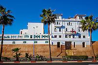 Maroc, Casablanca, immeuble dit Palais Toscan en bordure de la Medina, 1910 // Morocco, Casablanca, Tuscany Palace, old Medina, 1910