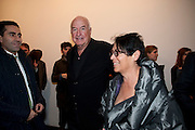 AMIR SHARIAT; MERA RUBELL; DON RUBELL, 'Engagement' exhibition of work by Jennifer Rubell. Stephen Friedman Gallery. London. 7 February 2011. -DO NOT ARCHIVE-© Copyright Photograph by Dafydd Jones. 248 Clapham Rd. London SW9 0PZ. Tel 0207 820 0771. www.dafjones.com.
