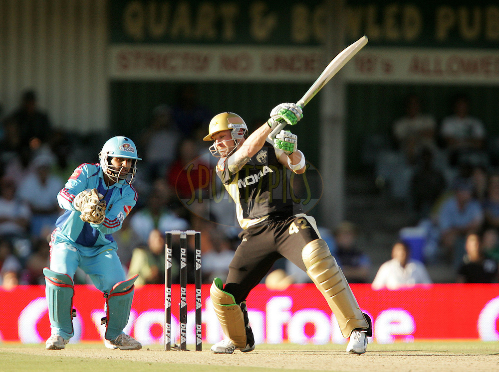 EAST LONDON, SOUTH AFRICA - 1 May 2009. Brendan McCullum during the  IPL Season 2 match between the Mumbai Indians and the Kolkata Knight Riders held at Buffalo Park in East London. South Africa..