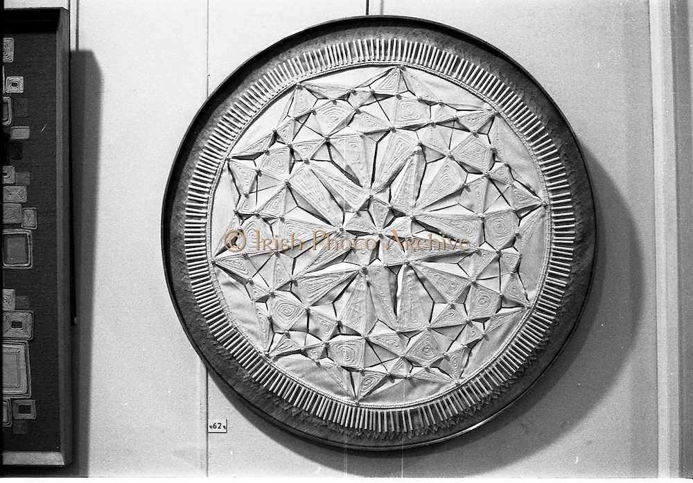 07/01/1969.01/07/1969.07 January 1969.Contemporary Hangings Exhibition at the Municiapal Art Gallery, Dublin. White Sun by Eirlan Short.