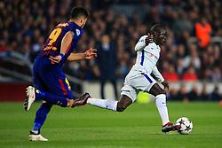Ngolo Kante of Chelsea takes on Luis Suarez of Barcelona - Mandatory by-line: Matt McNulty/JMP - 14/03/2018 - FOOTBALL - Camp Nou - Barcelona, Catalonia - Barcelona v Chelsea - UEFA Champions League - Round of 16 Second Leg