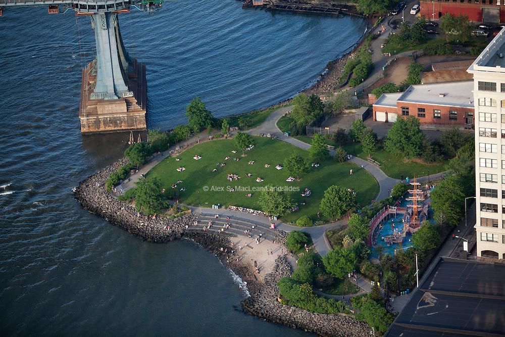 Empire Ferry park at Brooklyn Bridge Park. The park's landscape architect was Michael Van Valkenburgh Associates