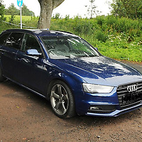Police Scotland Re-appeal for information regarding the Gleneagles Hotel robbery on Tuesday 27th June 2017….<br />A police handout photo of the Audi A4 dumped on Station Road ..Enquiries so far have established that the Audi car which was abandoned in the Auchterarder area was stolen from the Kent area in June.  The two door grey-coloured Range Rover Evoque was stolen from the London area in May.  Both vehicles were bearing cloned number plates. Police Scotland are appealing to anyone who may have information regarding the theft of these vehicles to come forward….07.07.17<br />Picture by Graeme Hart.<br />Copyright Perthshire Picture Agency<br />Tel: 01738 623350  Mobile: 07990 594431