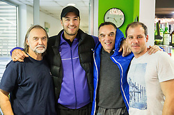 Drago Bulic, Marko Milic, Gasper Bolhar and Mitja Dragsic at Istenic doubles Tournament and Slovenian Tennis personality of the year 2015 annual awards presented by Slovene Tennis Association TZS, on December 12, 2015 in Millenium Centre, BTC, Ljubljana, Slovenia. Photo by Vid Ponikvar / Sportida