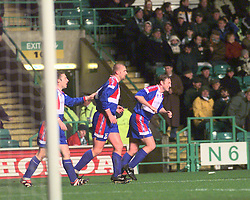 """CELTIC V INVERNESS CALEY PIC:SCHOFIELD.CALEY'S 2ND GOAL CELE SCORED BY MANN..The team is also famous for its Scottish Cup victories over Celtic in 2000 and winning 3-1 at Celtic Park, resulting in the headline """"Super Caley Go Ballistic Celtic Are Atrocious"""" in The Scottish Sun..©2010 Michael Schofield. All Rights Reserved."""