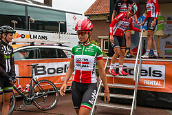 Elena Cecchini of Lotto Soudal Ladies after the sign-on at the Holland Ladies Tour, Zeddam, Gelderland, The Netherlands, 1 September 2015.<br /> Photo: Pim Nijland / PelotonPhotos.com
