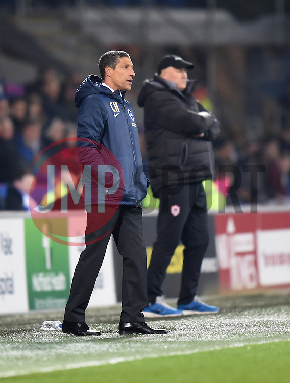 Brighton and Hove Albion Manager, Chris Hughton on the side line at Cardiff City Stadium - Photo mandatory by-line: Paul Knight/JMP - Mobile: 07966 386802 - 10/02/2015 - SPORT - Football - Cardiff - Cardiff City Stadium - Cardiff City v Brighton & Hove Albion - Sky Bet Championship