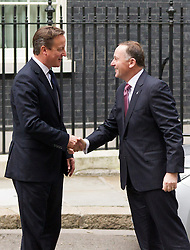 © Licensed to London News Pictures. 18/09/2013. London, UK. The British Prime Minister David Cameron meets with the New Zealand Prime Minister John Key on Downing Street in London today (18/09/2013). Photo credit: Matt Cetti-Roberts/LNP