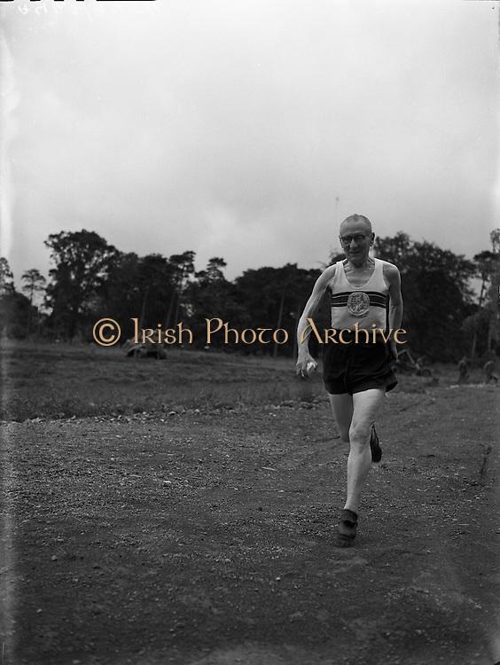 Joe Deakin, 79 year old British Athlete at Morton stadium.27/07/1957