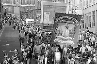 Allerton Silkstone and Glasshoughton banners, 1983 Yorkshire Miner's Gala. Barnsley