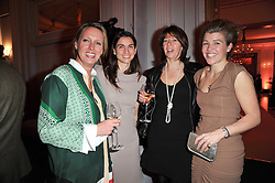 Left to right, ANNOUSHKA AYTON, LADY PINSENT wife of Sir Matthew Pinsent, FLORENCE PAUL and AMBER AIKENS at the 38th Veuve Clicquot Business Woman Award held at Claridge's, Brook Street, London W1 on 28th March 2011.