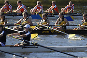 Boston, USA, Youth Women's Eights , approach Eliot Bridge and Cambridge Boat Club, at the Head of the Charles Race, Charles River, Cambridge,  Massachusetts. Saturday  21/10/2007 [Mandatory Credit Peter Spurrier/Intersport Images]..... , Rowing Course; Charles River. Boston. USA