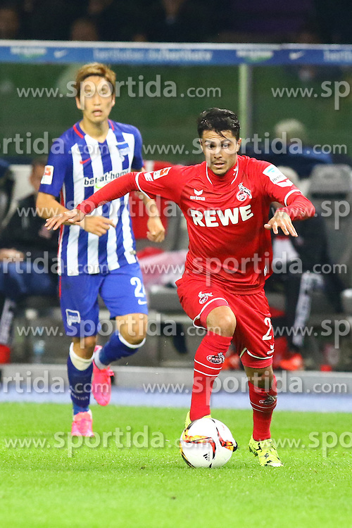22.09.2015, Olympiastadion, Berlin, GER, 1. FBL, Hertha BSC vs 1. FC Koeln, 6. Runde, im Bild Leonardo Bittencourt (#21, 1. FC Koeln), // during the German Bundesliga 6th round match between Hertha BSC and 1. FC Cologne at the Olympiastadion in Berlin, Germany on 2015/09/22. EXPA Pictures &copy; 2015, PhotoCredit: EXPA/ Eibner-Pressefoto/ Hundt<br /> <br /> *****ATTENTION - OUT of GER*****