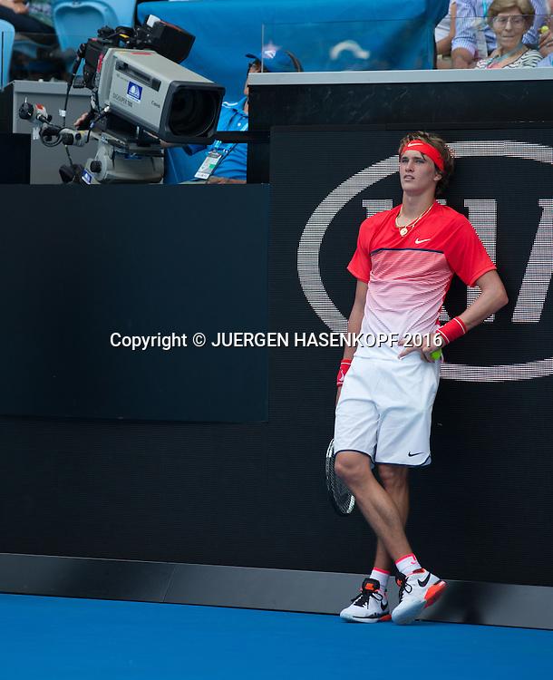 Alexander Zverev, Australian Open 2016<br /> <br /> Tennis - Australian Open 2016 - Grand Slam ITF / ATP / WTA -  Melbourne Park - Melbourne - Victoria - Australia  - 19 January 2016.