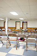 Empty chairs await those looking to network and be empowered while unemployed at a Those in Between Jobs meeting led by Marilyn Santiago at Ben Hill United Methodist Church in Atlanta, Georgia August 17, 2010. ..Model releases: yes.Utilities Hearing, c/o editor Michael Wichita