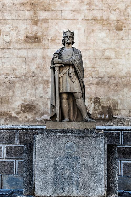 Monument to Alfonso III, Plaza de la Conquesta square, Mahon, Mao, Minorca, , Balearic Islands