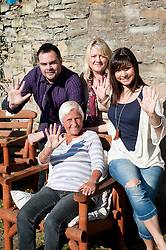 28th September2011 Image © Paul David DrabbleTV and Stage star Roxanne Pallett Joins Sheffield based Broadband Company Plusnet on a visit to Rydale Lodge Younger People Alzheimers Society Day Centre at Lane end Chapeltown to mark the handover of £5252 to Plusnets 2010-2011 charity.left to right, Ryan Hanily and Barbara Peacock of Plusnet Rydale Lodge Attendee Betty Shipley and Roxanne Pallett. 28th September2011. Image © Paul David Drabble