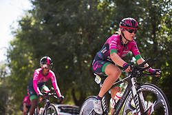 Nicole Steigenga (NED) of BePink Cycling Team warms up for Stage 1 of the Madrid Challenge - a 12.6 km team time trial, starting and finishing in Boadille del Monte on September 15, 2018, in Madrid, Spain. (Photo by Balint Hamvas/Velofocus.com)