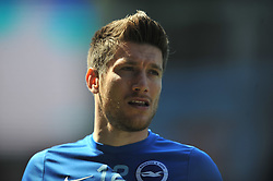 SEBASTIAN POCOGNOLI BRIGHTON, Aston Villa v Brighton &amp; Hove Albion Sky Bet Championship Villa Park, Brighton Promoted to Premiership Sunday 7th May 2017 Score 1-1 <br /> Photo:Mike Capps