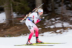 Krystyna Guzik (POL) during Women 12.5 km Mass Start at day 4 of IBU Biathlon World Cup 2015/16 Pokljuka, on December 20, 2015 in Rudno polje, Pokljuka, Slovenia. Photo by Urban Urbanc / Sportida