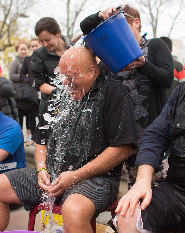Hawkes Bay locals take on the ice challenge, Hastings, New Zealand, Monday, 14 July 2014. Photo by John Cowpland / SNPA