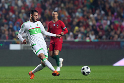 June 7, 2018 - Lisbon, Portugal - Algerias defender Rami Bensebaini in action during the FIFA World Cup Russia 2018 preparation football match Portugal vs Algeria, at the Luz stadium in Lisbon, Portugal, on June 7, 2018. (Portugal won 3-0) (Credit Image: © Pedro Fiuza/NurPhoto via ZUMA Press)
