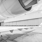 Aircraft Hangar, Vienna B&W