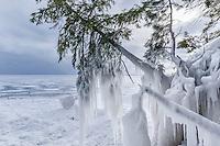A frozen landscape in Marquette County<br /> Michigan's Upper Peninsula