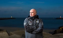 Bouwe Bekking (Skipper Team Brunel) at the announcement of the Scheveningen Pitstop during the Volvo Ocean Race 2014-1015. The Pitstop will be during the Leg from Lorient to Gothenburg which starts on the 17th on June. January 29th 2014, Scheveningen, The Netherlands.