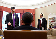 04.JUNE.2012. WASHINGTON D.C.<br /> <br /> PRESIDENT BARACK OBAMA TALKS WITH CHIEF OF STAFF JACK LEW AND SENIOR ADVISOR DAVID PLOUFFE IN THE OVAL OFFICE, JUNE 4, 2012.  <br /> <br /> BYLINE: EDBIMAGEARCHIVE.CO.UK<br /> <br /> *THIS IMAGE IS STRICTLY FOR UK NEWSPAPERS AND MAGAZINES ONLY*<br /> *FOR WORLD WIDE SALES AND WEB USE PLEASE CONTACT EDBIMAGEARCHIVE - 0208 954 5968*