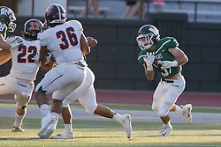 {BLOOMINGTON, IL: Bryce Dooley during a college football game between the IWU Titans  and the Wheaton Thunder on September 15 2018 at Wilder Field in Tucci Stadium in Bloomington, IL. (Photo by Alan Look)