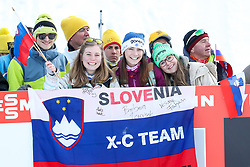 Fans during 1.2 km Sprint Classic race at FIS Cross Country World Cup Planica 2016, on January 20, 2018 at Planica, Slovenia. Photo By Morgan Kristan / Sportida