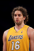 15 January 2010: Forward Pau Gasol of the Los Angeles Lakers against the Los Angeles Clippers during the second half of the Lakers 126-86 victory over the Clippers at the STAPLES Center in Los Angeles, CA.