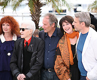 Sabine Azema, Alain Resnais, Hippolyte Girardot, Anne Dupery, Lambert Wilson at the Vous N'Avez Encore Rien Vu photocall at the 65th Cannes Film Festival France. Monday 21st May 2012 in Cannes Film Festival, France.