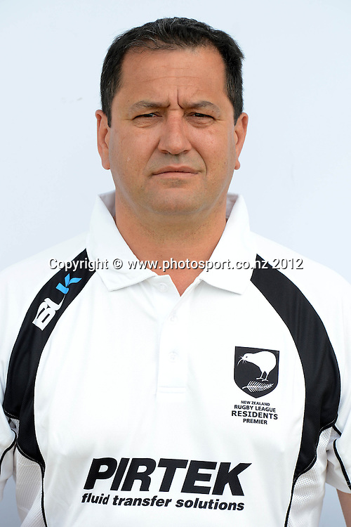 Brent Gemmell ( head coach )<br /> NZ Residents Rugby League Team Headshots, Cornwall Park, Auckland. 25 October 2012. Photo: Andrew Cornaga/Photosport.co.nz