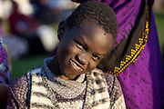 A Sudanese boy takes part in the International Migrants Day celebration organized by UNHCR partner agency IOM December 16 2017 in the Maadi district of Cairo, Egypt. The International Migrants Day celebration included free activities for children, cultural and musical performances, and free medical and dental screenings along with booths by local refugee NGO's and a craft marketplace.