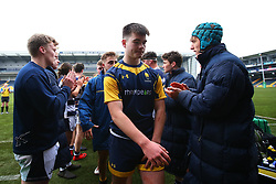 Paul Wells (Warriors AASE/Worcester Sixth Form College) of Worcester Warriors Under 18s - Mandatory by-line: Robbie Stephenson/JMP - 14/01/2018 - RUGBY - Sixways Stadium - Worcester, England - Worcester Warriors Under 18s v Yorkshire Carnegie Under 18s - Premiership Rugby U18 Academy