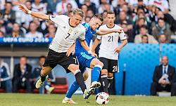 26.06.2016, Stade Pierre Mauroy, Lille, FRA, UEFA Euro 2016, Deutschland vs Slowakei, Achtelfinale, im Bild Bastian Schweinsteiger (GER), Milan Skriniar (SVK) // Bastian Schweinsteiger (GER) Milan Skriniar (SVK) during round of 16 match between Germany and Slovakia of the UEFA EURO 2016 France at the Stade Pierre Mauroy in Lille, France on 2016/06/26. EXPA Pictures © 2016, PhotoCredit: EXPA/ JFK