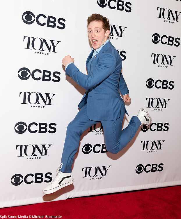 Ethan Slater, 2018 Tony Award Nominee for Best Actor in a Musical (SpongeBob SquarePants), in New York City on May 2, 2018