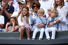 Roger Federer's family at Wimbledon Final, 16 July 2017