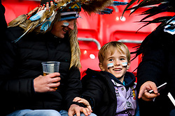 Exeter Chiefs fans at Sale Sharks - Mandatory by-line: Robbie Stephenson/JMP - 08/12/2019 - RUGBY - AJ Bell Stadium - Manchester, England - Sale Sharks v Exeter Chiefs - Heineken Champions Cup