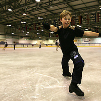 9 year old Rory Ross-Docherty from Blairgowrie who came second in the British Solo Ice Dance Championships. Rory is pictured at the Dewars Ice Rink in Perth.<br /><br />Picture by Graeme Hart.<br />Copyright Perthshire Picture Agency<br />Tel: 01738 623350  Mobile: 07990 594431