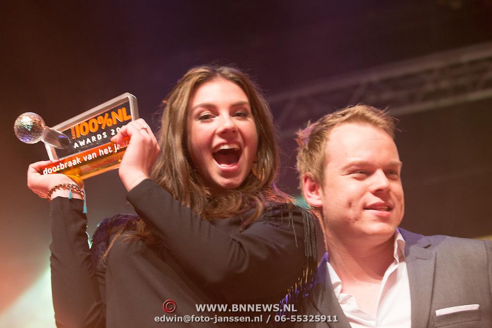NLD/Uitgeest/20170207 - Uitreiking 100% NL Awards 2016, Maan de Steenwinkel en Lars Boele