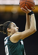 January 27 2010: Michigan St. guard Brittney Thomas (20) puts up a shot during the second half of an NCAA women's college basketball game at Carver-Hawkeye Arena in Iowa City, Iowa on January 27, 2010. Iowa defeated Michigan State 66-64.