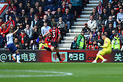 Mark Travers (42) of AFC Bournemouth makes a save from a shot at goal by Lucas Moura (27) of Tottenham Hotspur during the Premier League match between Bournemouth and Tottenham Hotspur at the Vitality Stadium, Bournemouth, England on 4 May 2019.