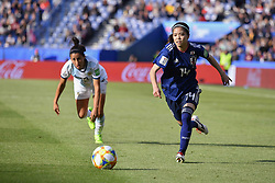 June 10, 2019 - Paris, ile de france, France - Yui HASEGAWA (JPN) in Action during the match between Argentina and Japan at the 2019 World cup  on June 10, 2019, at the Parc des Princes stadium in Paris, France. (Credit Image: © Julien Mattia/NurPhoto via ZUMA Press)