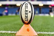 Match ball for the Guinness Pro 14 2018_19 match between Edinburgh Rugby and Benetton Treviso at Murrayfield Stadium, Edinburgh, Scotland on 28 September 2018.